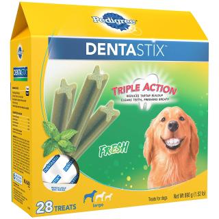 低至5.6折Pedigree Dentastix 精选多款狗狗洁牙零食折扣热卖
