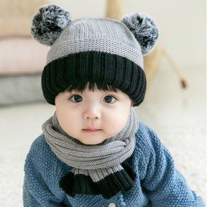 patpat小童针织帽+围巾