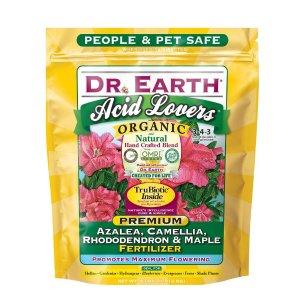 DR. EARTH 4 lb. Acid Lovers Azalea, Camellia, Rhododendron and Maple Fertilizer Dry Fertilizer