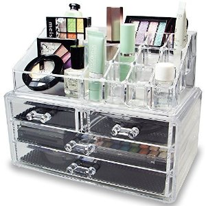 $13.95Ikee Design Acrylic Jewelry & Cosmetic Storage Display Boxes Two Pieces Set.