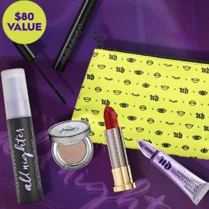 立减$20+满额送3件套Urban Decay 明星彩妆5件套大促 定妆喷雾、眼部打底价值$80