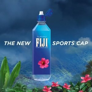 FIJI Natural Artesian Water, 23.7 Fl Oz Sports Cap Bottle (12-Pack)