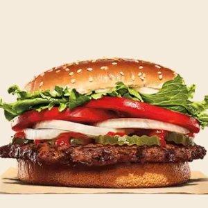 皇堡套餐需$4 满$5送儿童餐Burger King限时优惠,皇堡$1 ,双层皇堡$2,三层皇堡$3