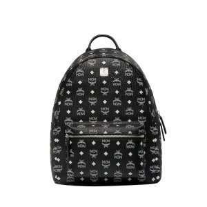 MCMStark White Logo Backpack in Visetos