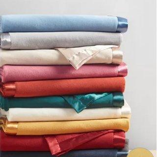 $9.99即将截止:Martha Stewart 超轻超柔软绒毛毯子