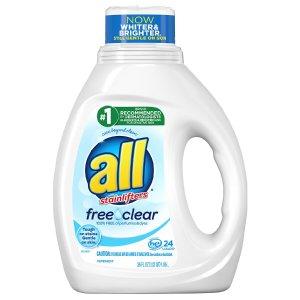 all Liquid Laundry Detergent Free Clear 36.0fl oz