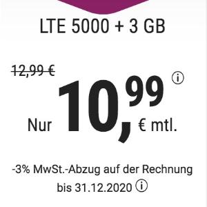 月租€10.99 免除€19.9接通费