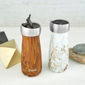 $35.24 (原价$47.71)S'well 便携保温旅行杯 经典木纹款  实用推盖设计
