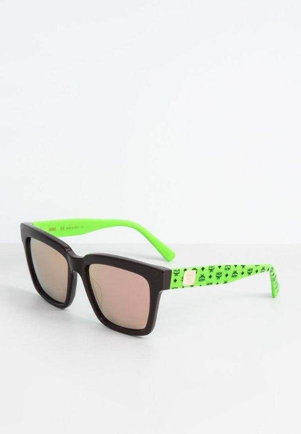 绿色老花款墨镜