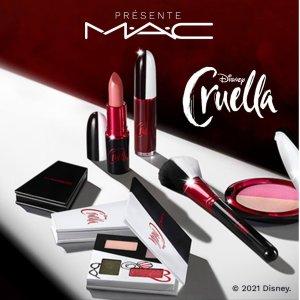 限时7.5折 €23.96收双色腮红上新:MAC x Disney《黑白魔女库伊拉》联名彩妆 朋克风酷girl
