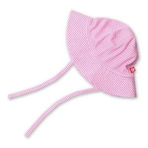 Zutano粉白条遮阳帽 婴幼童款