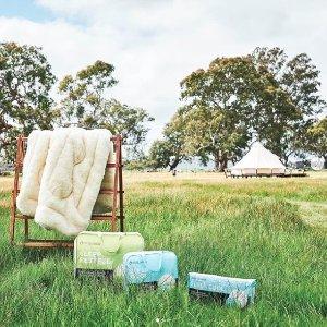 低至5折 过冬必备品Mini Jumbuk 澳洲精品羊毛被、枕头大促