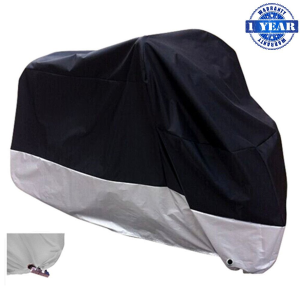 $15XYZCTEM All Season Black Waterproof Sun Motorcycle Cover