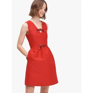 Kate Spadesequin-bow mikado dress