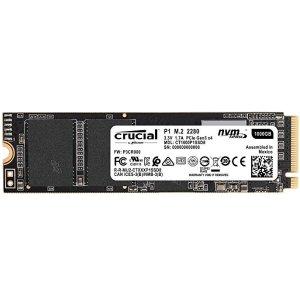 $144.99 (原价$169.99)史低价:Crucial P1 1TB 3D NAND NVMe PCIe M.2 固态硬盘