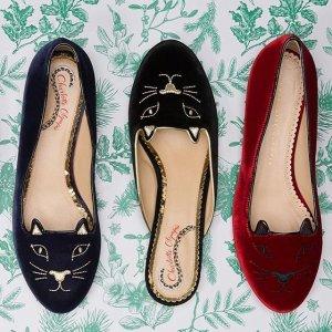 低至2.5折+额外7.5折 霉霉最爱Charlotte Olympia 精选美鞋热卖 快来收猫咪鞋