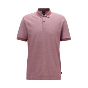 BOSS- Regular-fit polo shirt in two-tone honeycomb cotton