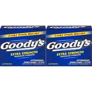 $6.21 包邮Goody's 强效头疼散 24片 x 2盒