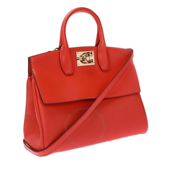 红色托特包