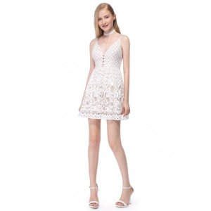 Ever-PrettyAlisa Pan Lace Fit and Flare Party Dress