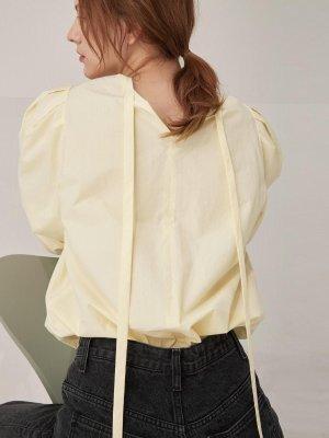 2 way volume blouse - Light yellow  | W Concept