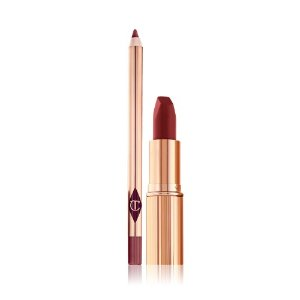 Charlotte Tilbury限量的红棕色 超级好看的! LEGENDARY QUEEN 口红+唇线笔
