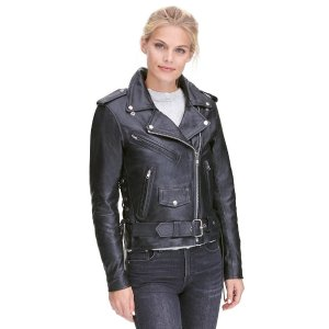 Wilsons LeatherMilwaukee Leather Classic Asymmetrical Rider Jacket w/Side Lacing