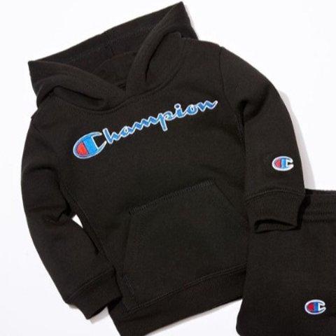 5折起Champion 儿童服饰热卖 收简洁舒适款卫衣套装