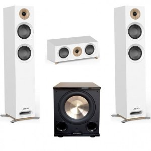 Jamo StudioSeries 3.1 White Home Theater System with S 807 Towers and PL-200II subwoofer