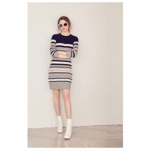 FEW MODATOTAL CONTRAST STRIPE KINT DRESS C8ZDRL02035