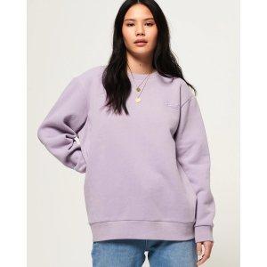 SuperdryOl Elite 香芋紫logo卫衣