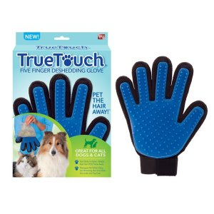 As Seen on TV True Touch Five Finger Pet Deshedding Glove - Chewy.com