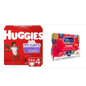 $46.7Buy Huggies Little Movers Diapers, Size 4 and Get Free Enfagrow Milk Drinks