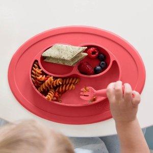 额外8折EZPZ 儿童硅胶餐具特卖 宝宝饭后好干净