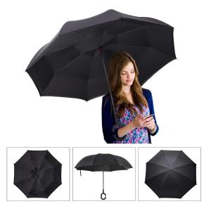 $11.88 (原价$17.88)SimplyWorks 双层抗风 防紫外线 创意倒收雨伞