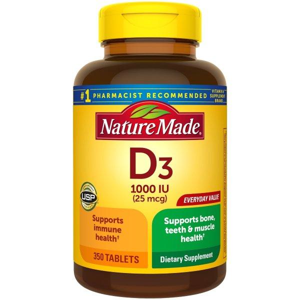 Vitamin D3, 350粒