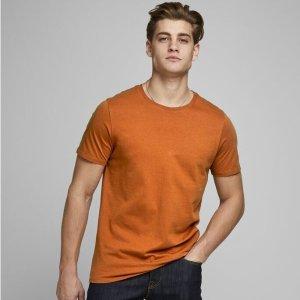 单件€12.9 买两件仅€20Jack & Jones 杰克琼斯 男式短袖Basic圆领衫特卖 舒适纯棉