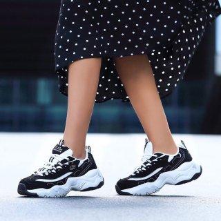 $42.31(原价$59.95)Skechers D'Lites 女款熊猫鞋老爹鞋