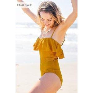 Arizona Sunshine Solid One-piece Swimsuit