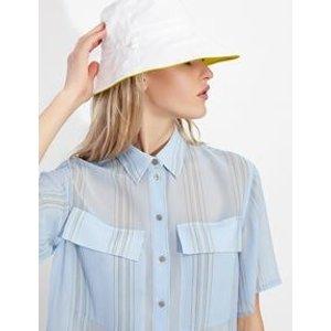 Armani Exchange透视条纹衬衫