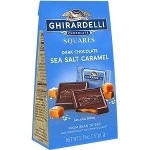 Ghirardelli海盐焦糖黑巧克力夹心方块 6袋