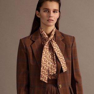 低至5折 €57收logoT恤Sandro 冬季大促 收爆款蝴蝶结针织上衣、小香风外套