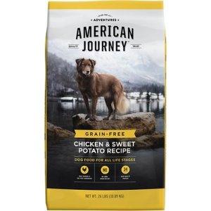 American Journey买2包立减$40无谷鸡肉红薯狗粮 24lb