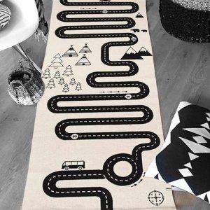 $16.99 (原价$19.99)闪购:Sirwolf 儿童街道游戏创意地毯,纯棉材料