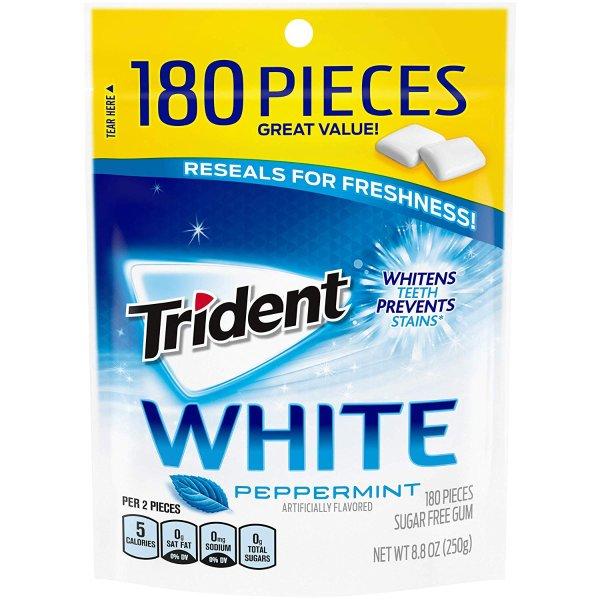 Peppermint无糖薄荷口香糖 180粒 4包装