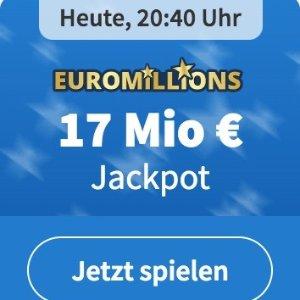 周二开奖 无需繁琐身份验证EuroMillions 彩票奖金累计1700万欧元  1000次机会只要1欧