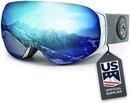 成人款冰蓝色滑雪镜