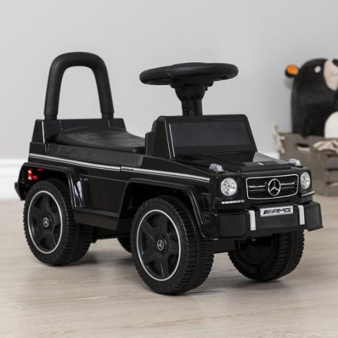 Kids Luxury Mercedes G63 Convertible Foot-to-Floor Push Car Ride- On Buggy