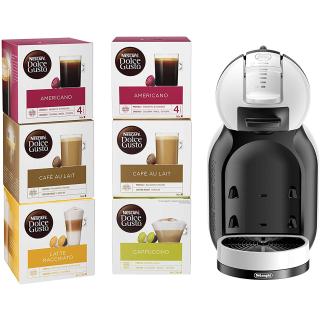 直降半价£55,含6盒胶囊Nescafé  Dolce Gusto 迷你胶囊咖啡机套装特卖