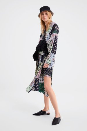 PATCHWORK PRINTED SHIRT - View All-SHIRTS | BLOUSES-WOMAN-SALE | ZARA United States